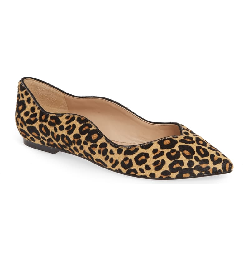 you know we can't resist leopard print! these  pointed flats  are on sale for under $80!