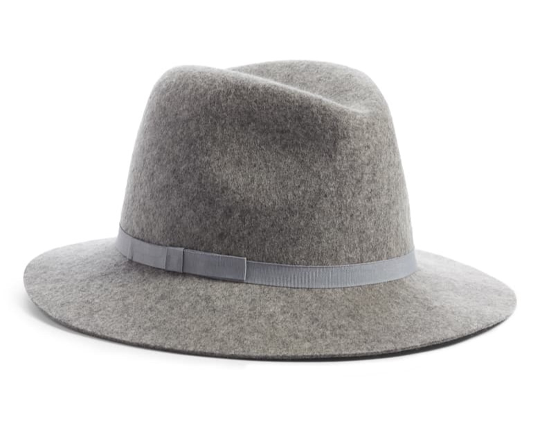 felted wool + a grosgrain flat bow =  hat perfection