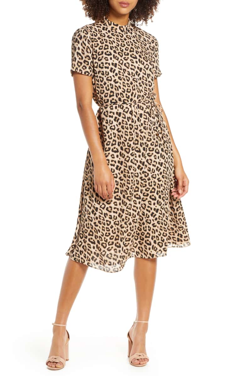 can you believe this  leopard mock neck dress  is under $85?!?!