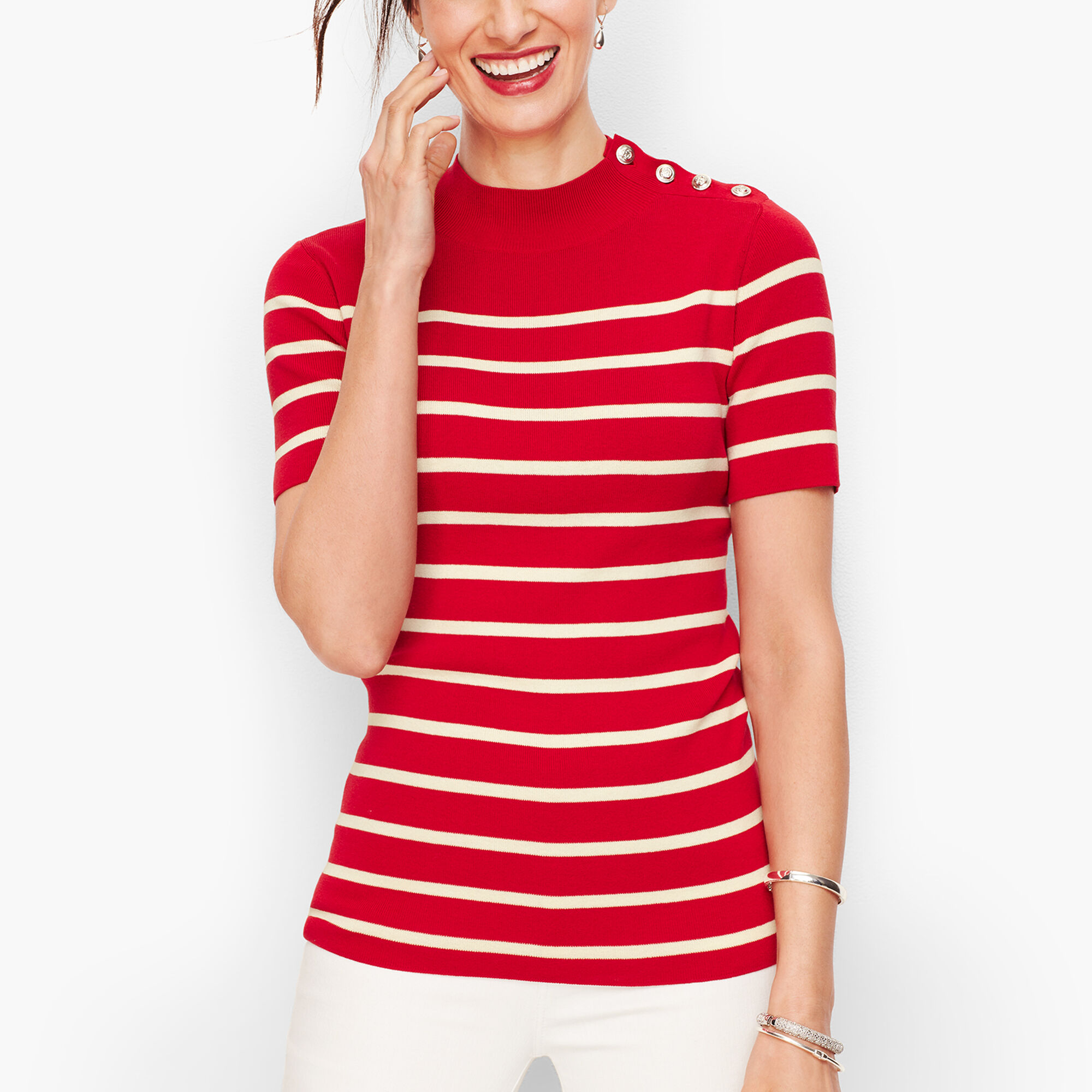 snap up this  striped sweater  for 25% off today!