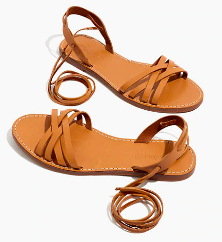 the sweetest  lace-up sandals … on major sale for just $23.99!
