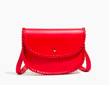 we're crushing on this  orangey-red whipstich bag ! just $32.99 today!