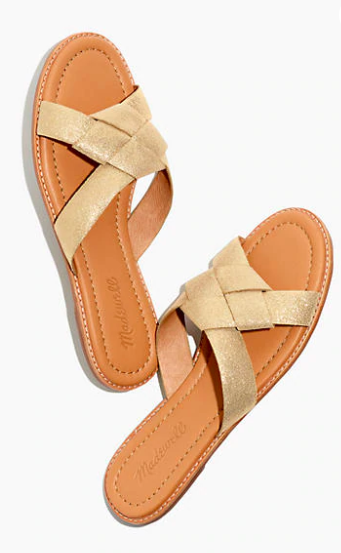 """how darling are these  knotted metallic sandals ?!?! just $41.99 today with code """"VERYRARE"""""""