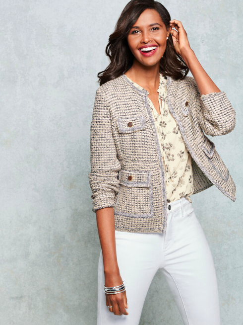 this  sweater  is both cozy and polished… a perfect layering piece for fall!