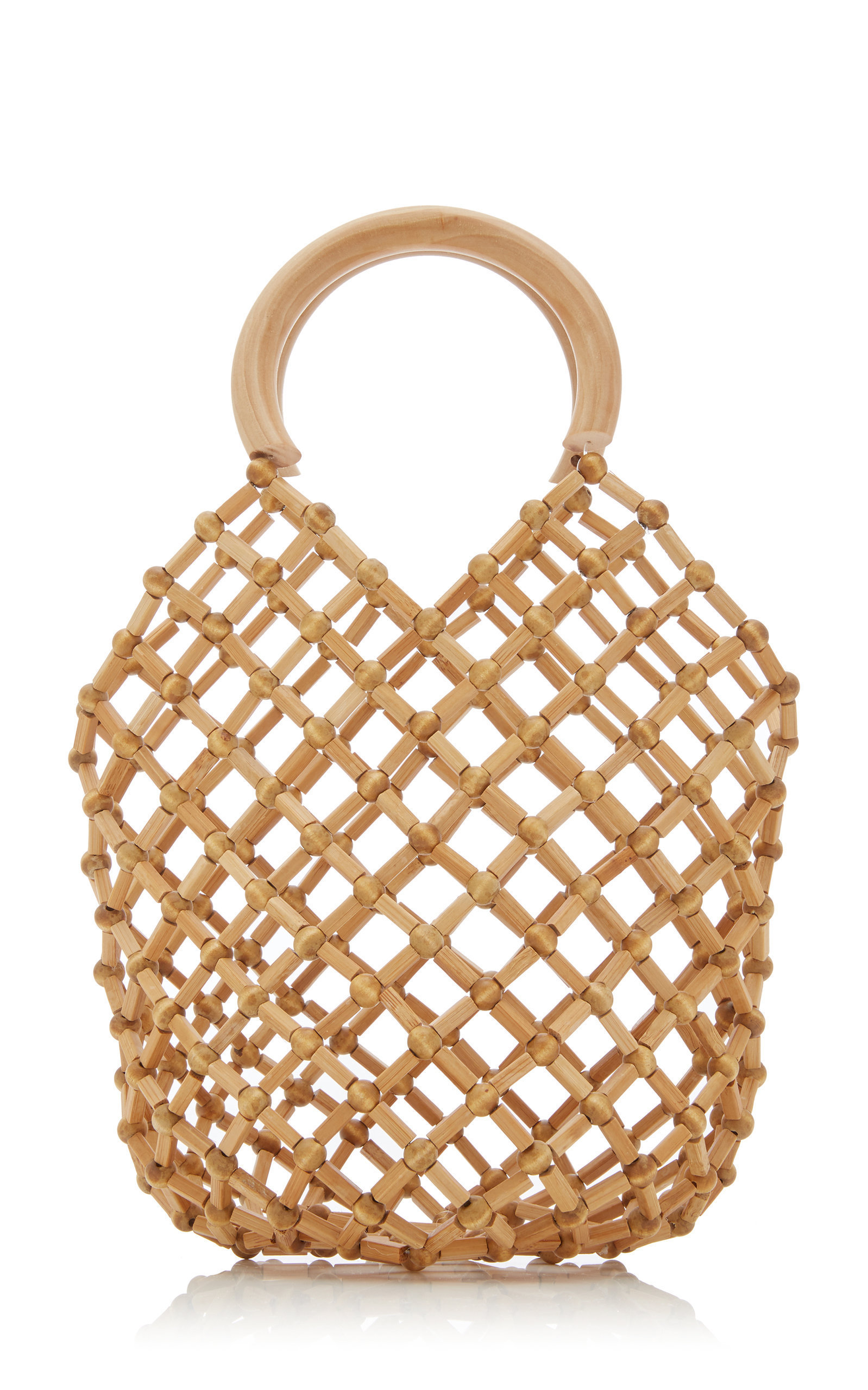 HOW DARLING IS THIS  BEADED BAMBOO  BAG?!?!