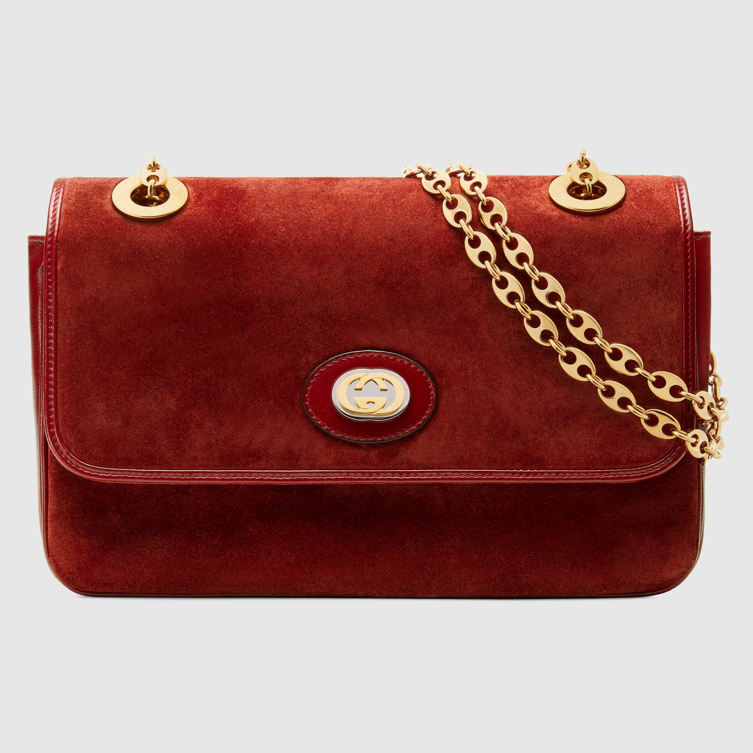 we're dreaming of fall with this  deep red, suede shoulder  bag… the perfect investment piece for fall!