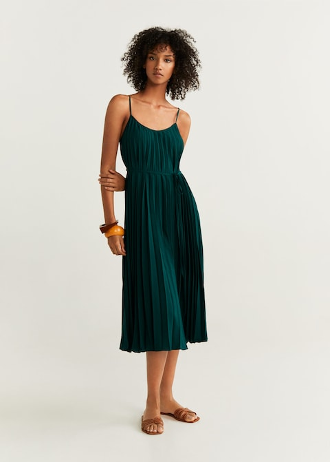 this  pleated midi dress  is absolutely perfect and just $79.99!