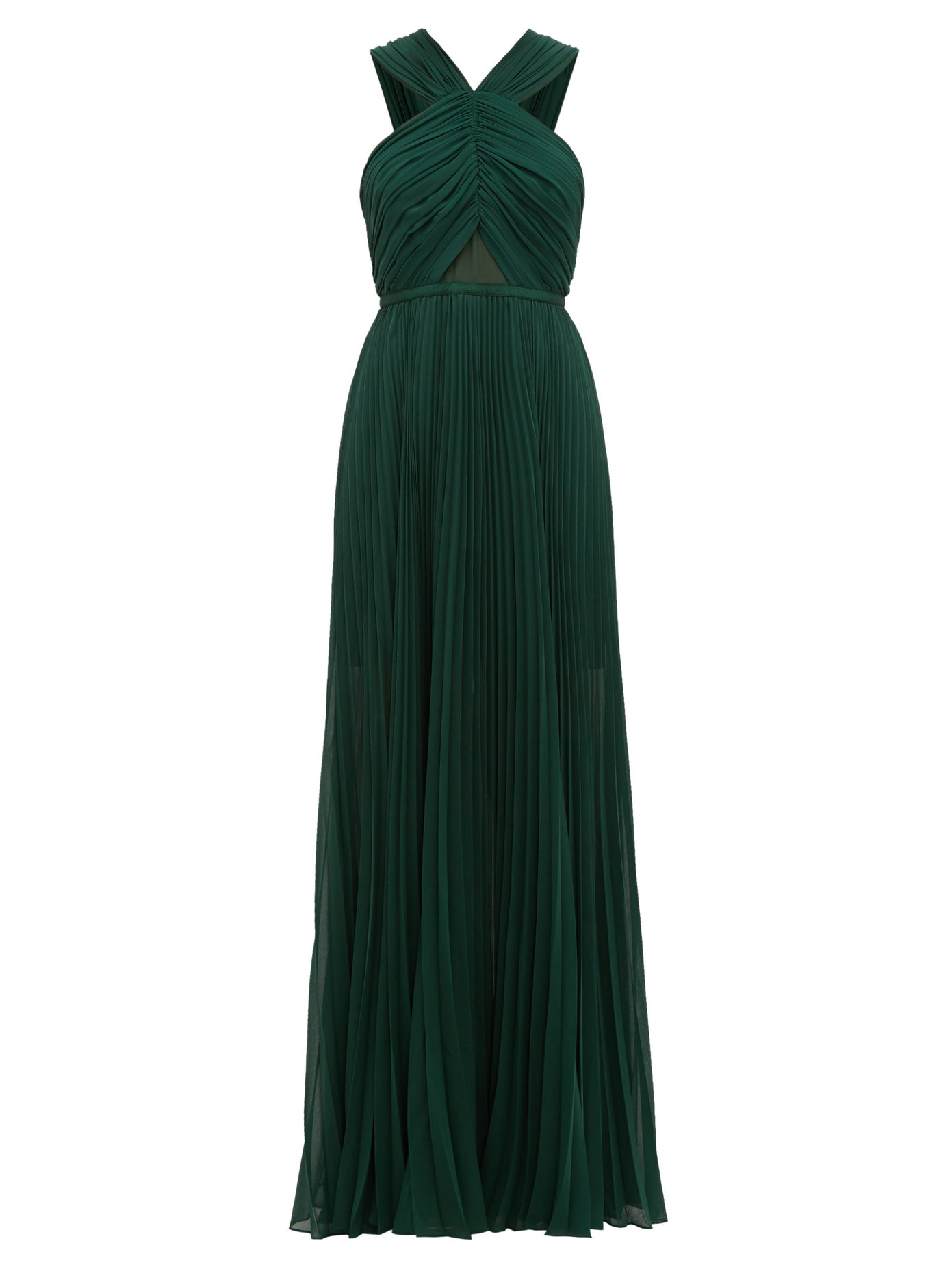 this  emerald halter neck dress  is swoon-worthy!