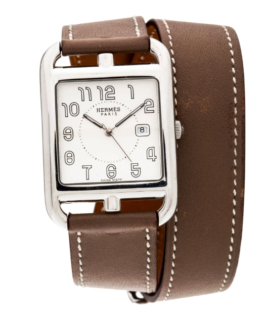 """never miss out on a time to say """"hello"""" or """"goodbye"""" with this  hermès watch !"""