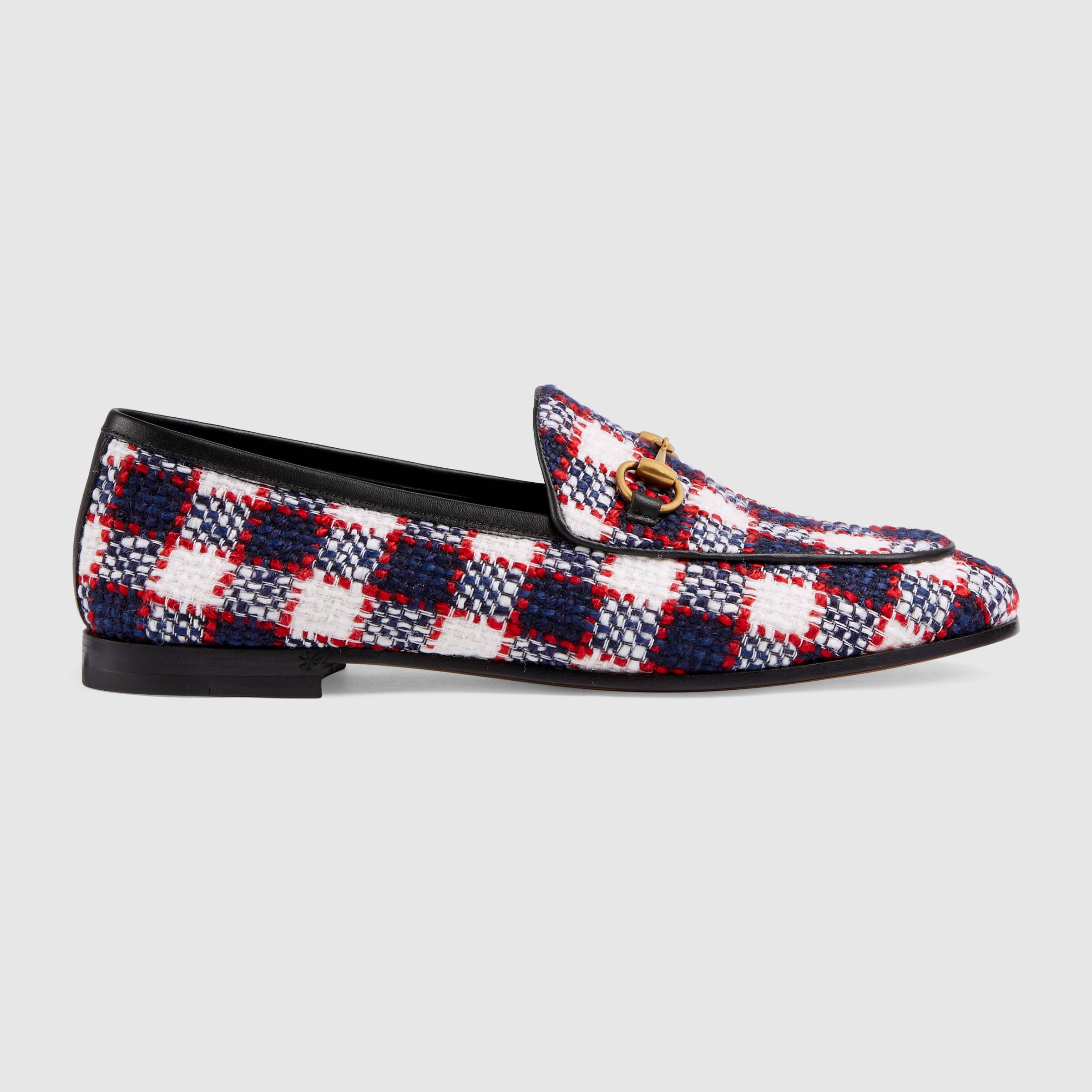 pretty in plaid! these  gucci, tweed loafers  are worth every penny!