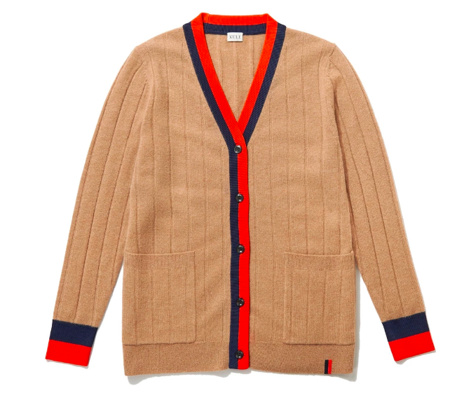 we're crushing on the trim of this  cashmere sweater !