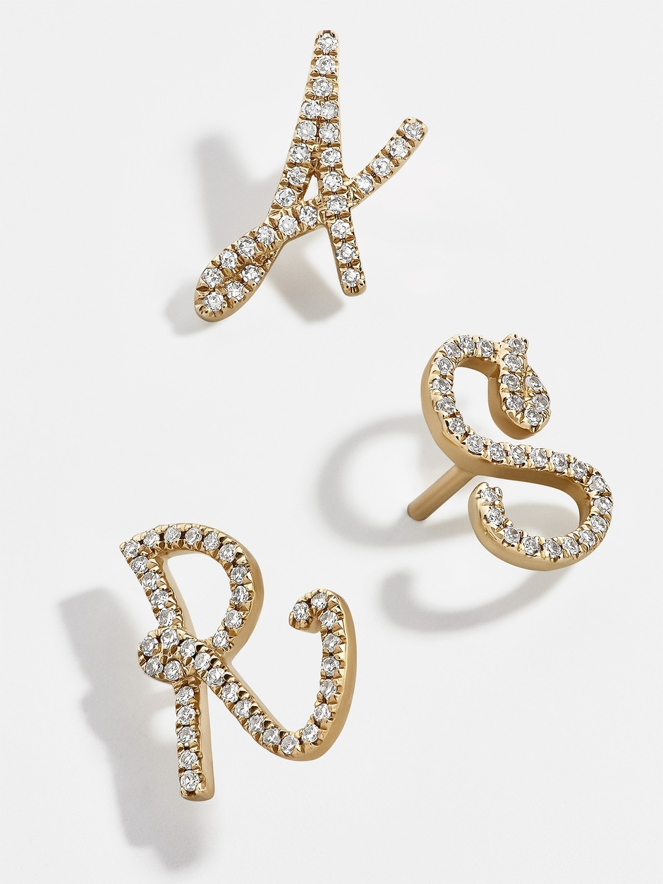 initial earrings  are a must-have!