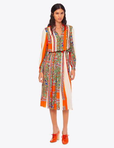 this  printed dress  has been at the tippy top of our wishlist for sometime and now it's only $199!