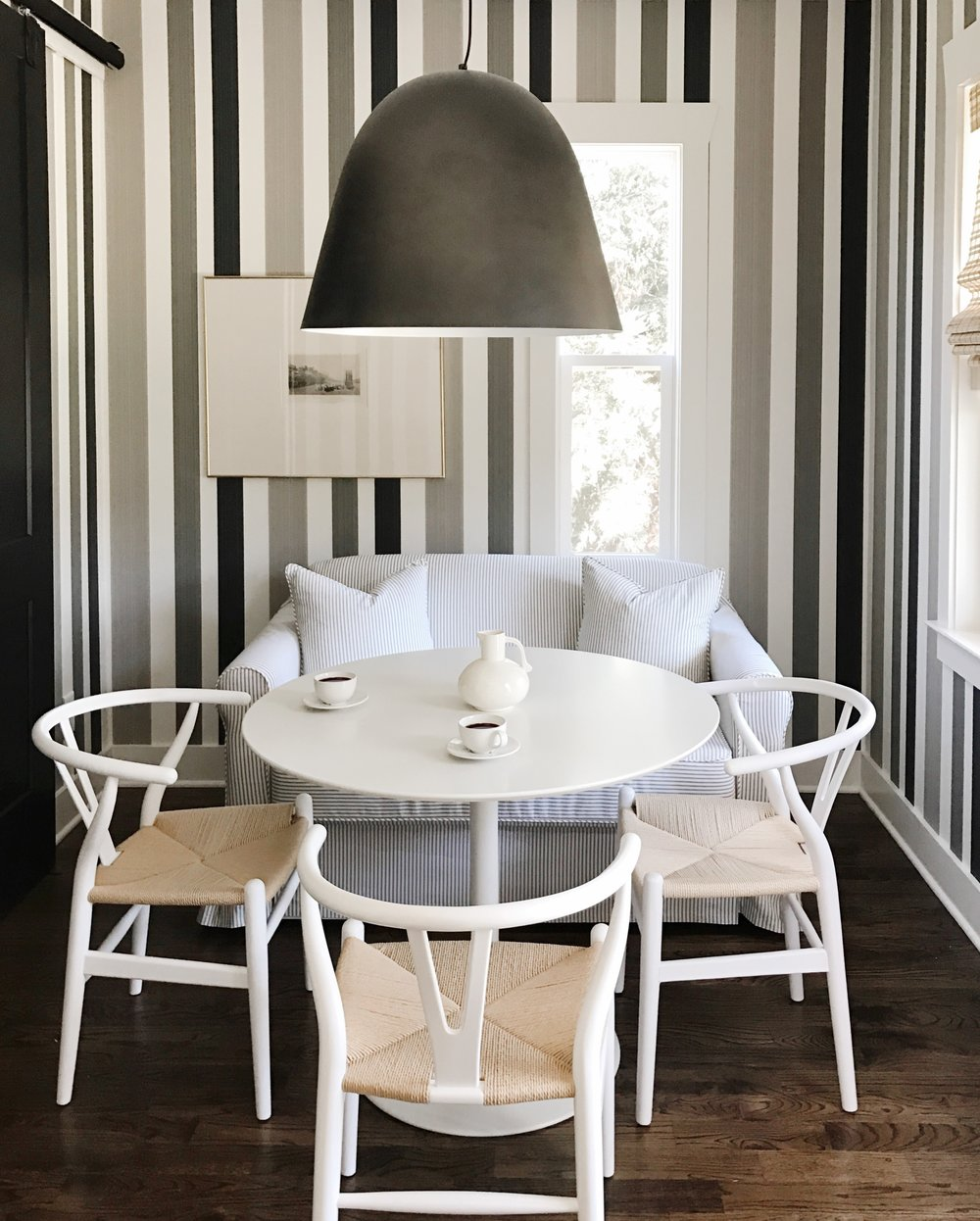 get the look with our  favorite wishbone chairs !
