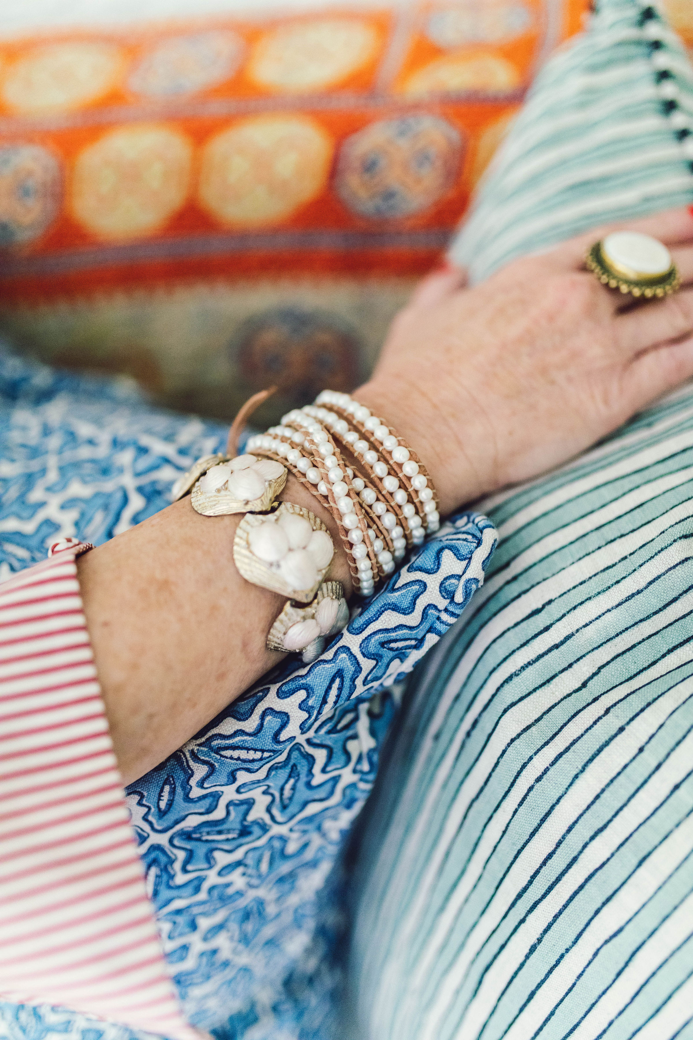 we are loving this  freshwater pearl wrap bracelet  paired with our favorite vintage pieces!