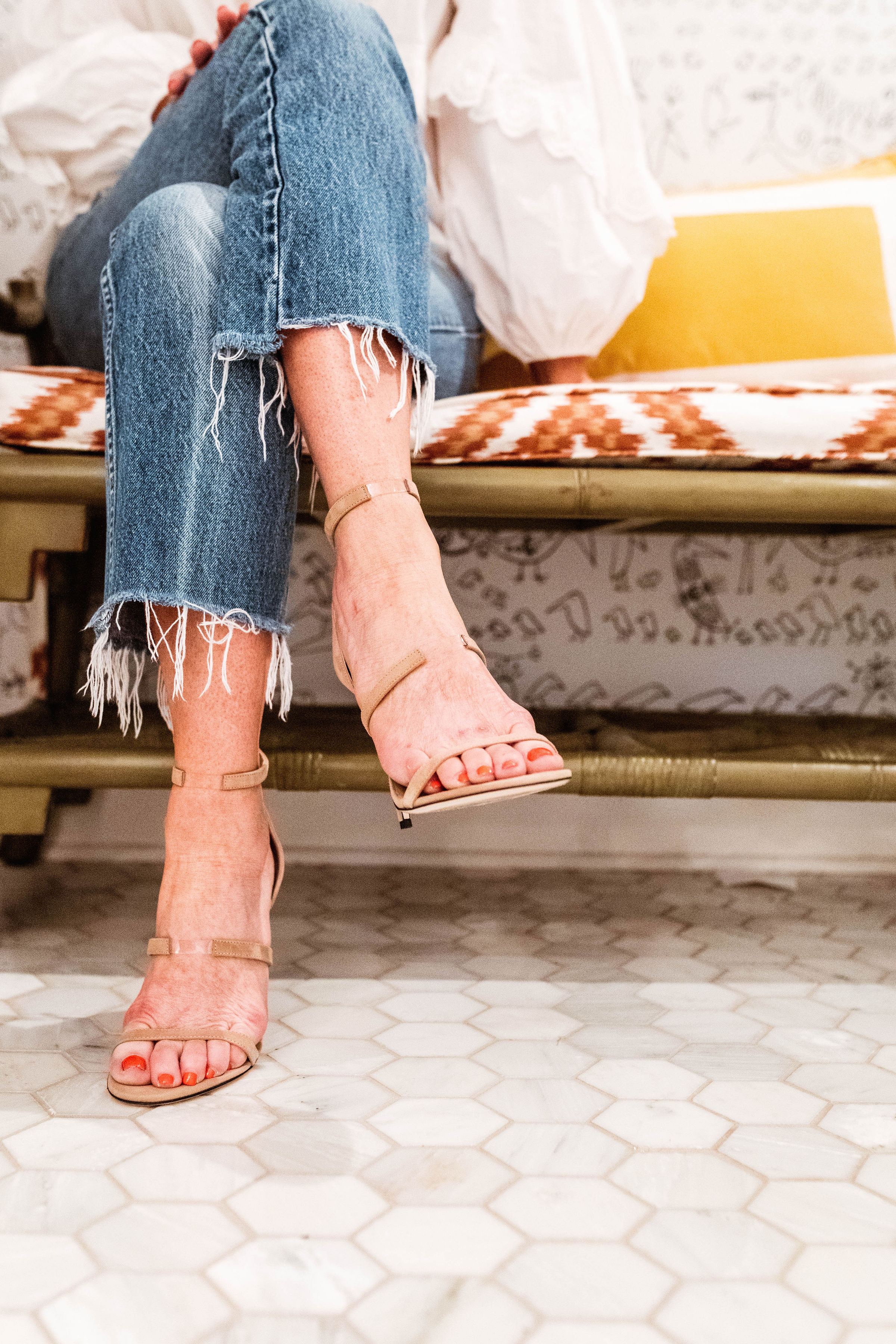 these strappy neutral  heels  are perfect for a date night!