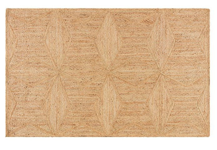 we adore the lively diamond design on this  Hand-braided jute rug