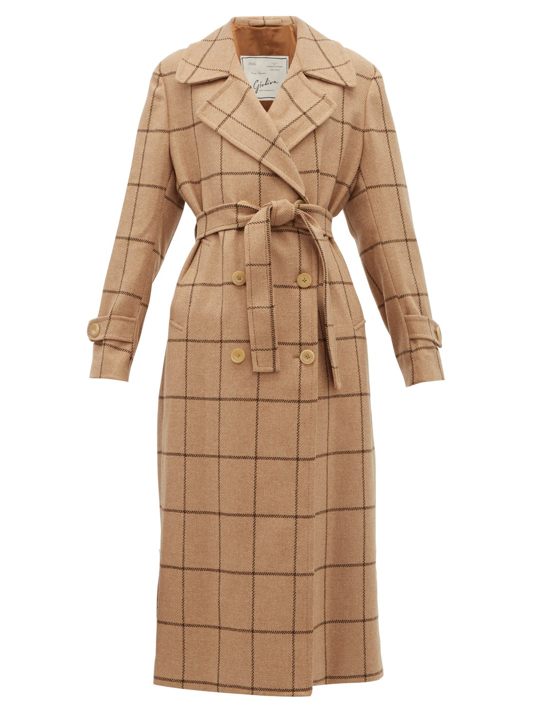 this checkered  wool trench coat  is at the tippy top of our wishlist!