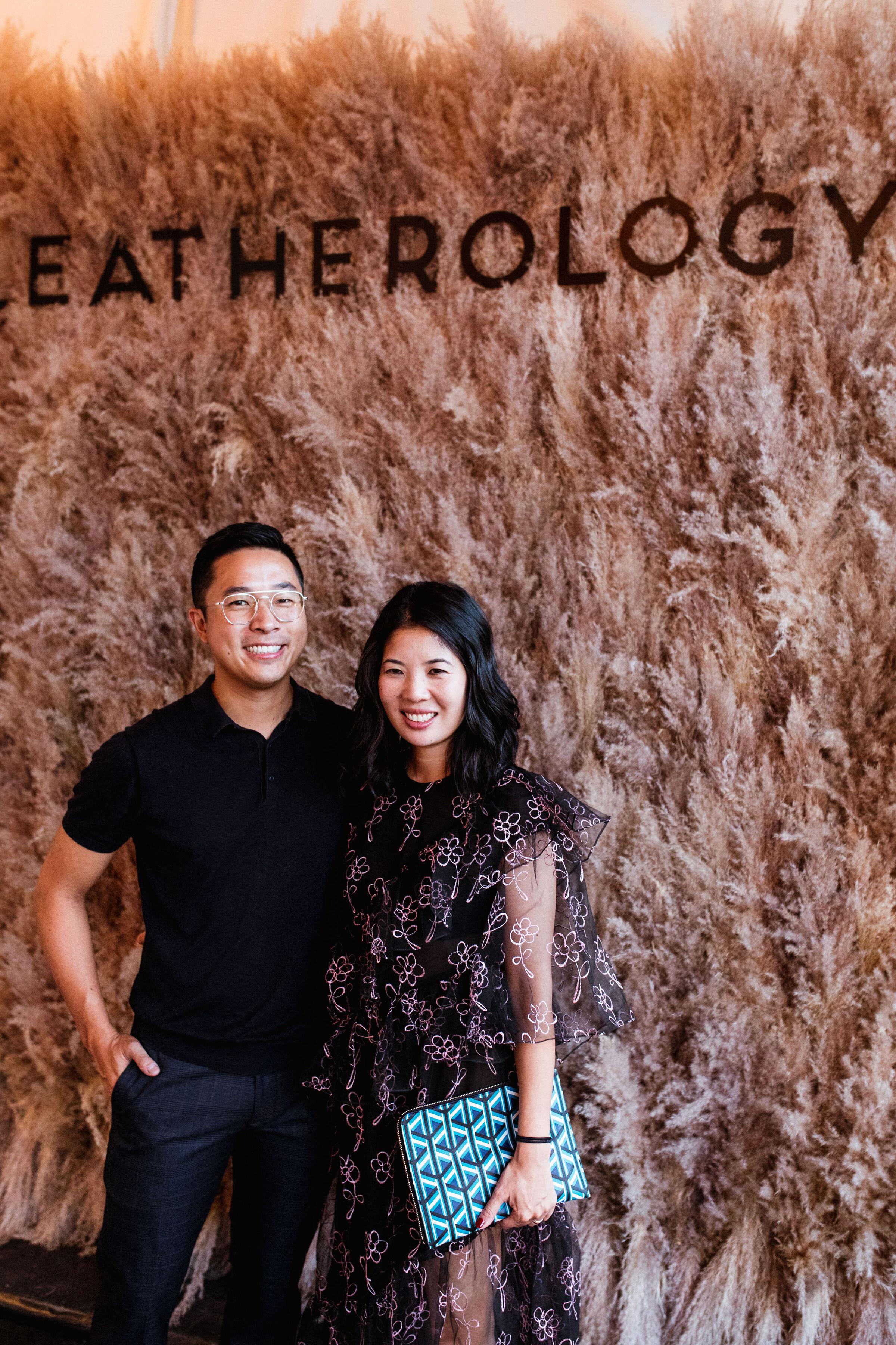 leatherology co-founders, rae and david liu