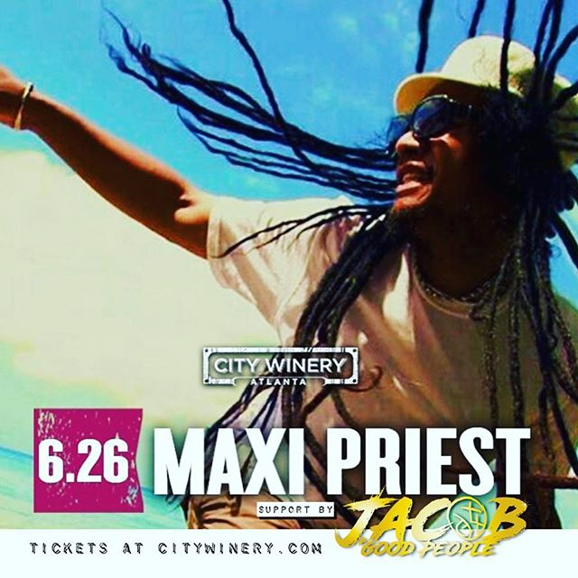 Excited to be supporting @therealmaxipriest next week @citywineryatl . Get a ticket now.