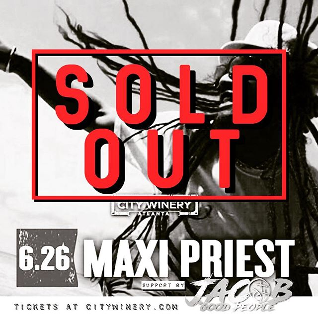 Thanks to everyone that bought tickets for the @therealmaxipriest and #jacobandthegoodpeople @citywineryatl door tickets might be available day of show. We start at 8PM.