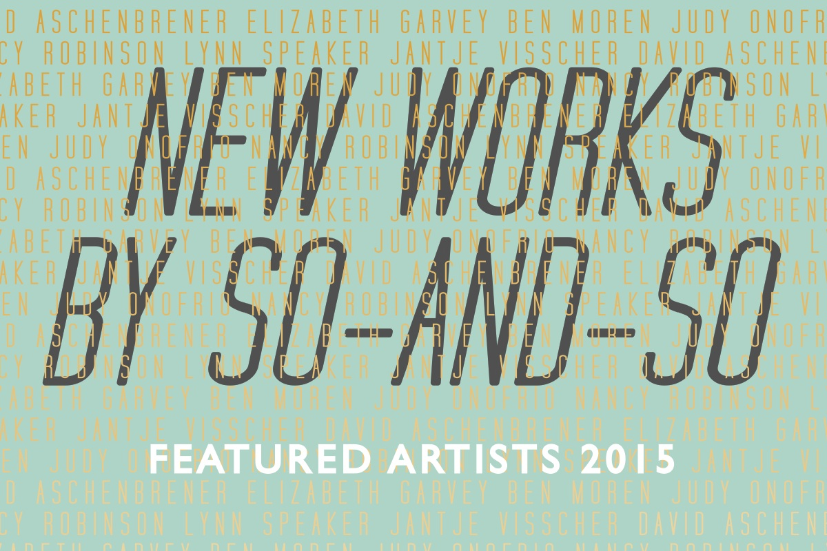 New Works by So and So