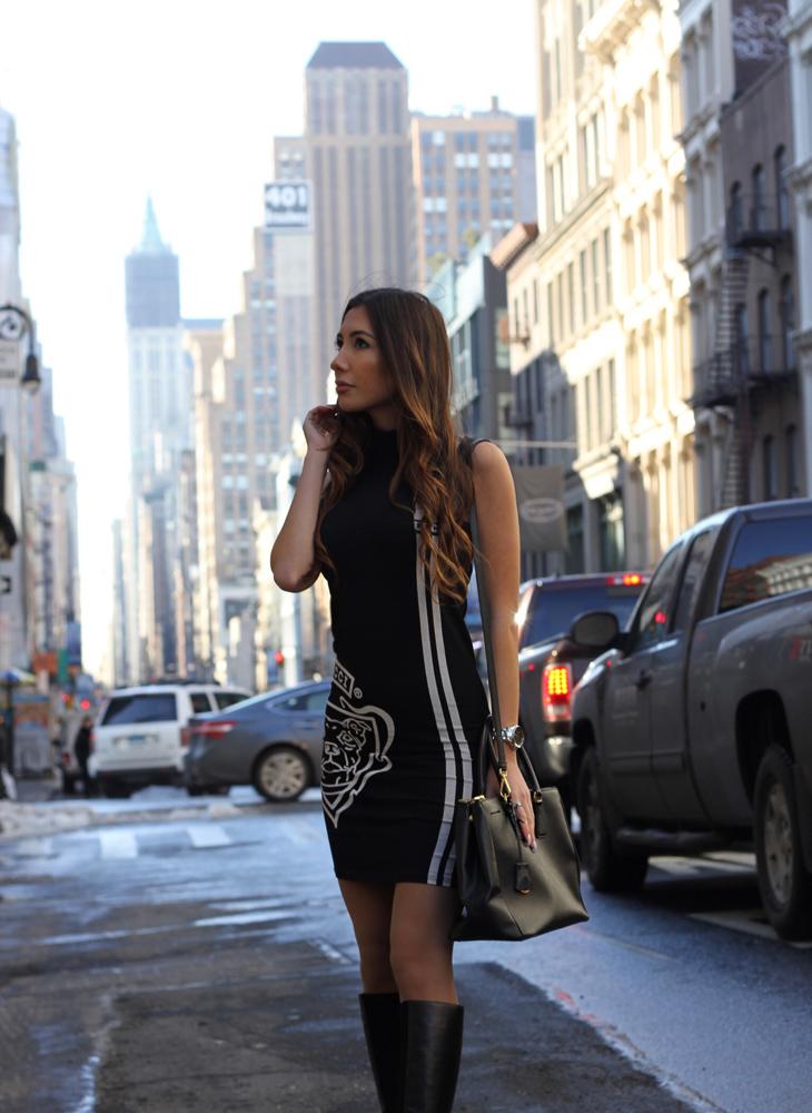 NYC style blogger in Soho