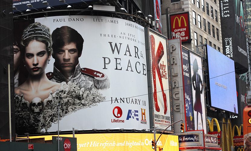 The ad for   War & Peace   (2016) series I spotted on the  Times Square, NYC