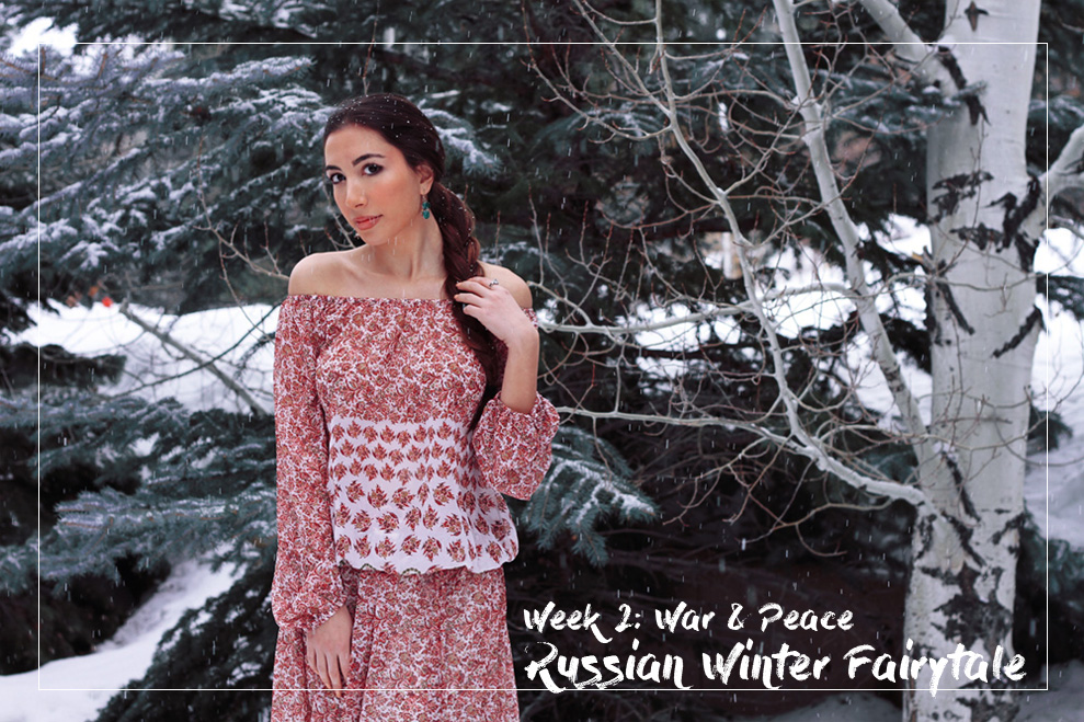 Russian winter fairytale love war and peace peasant look Walter Baker