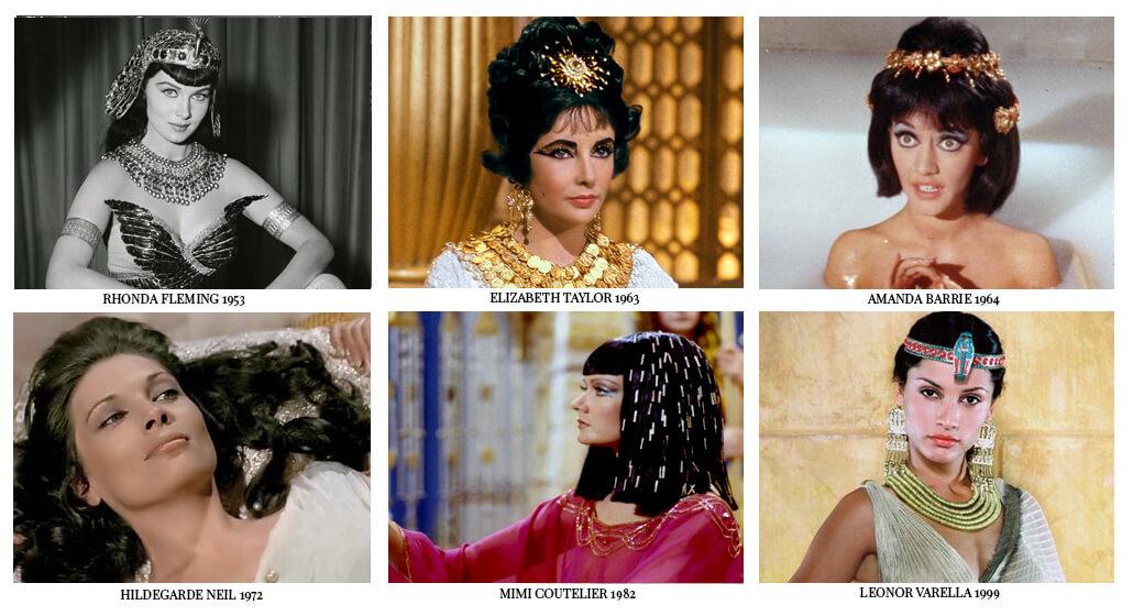 Все актрисы сыгравшие Клеопатру в фильмах. Элизабет Тейлор и другие. Liz Taylor and other actresses who played Cleopatra in movies.