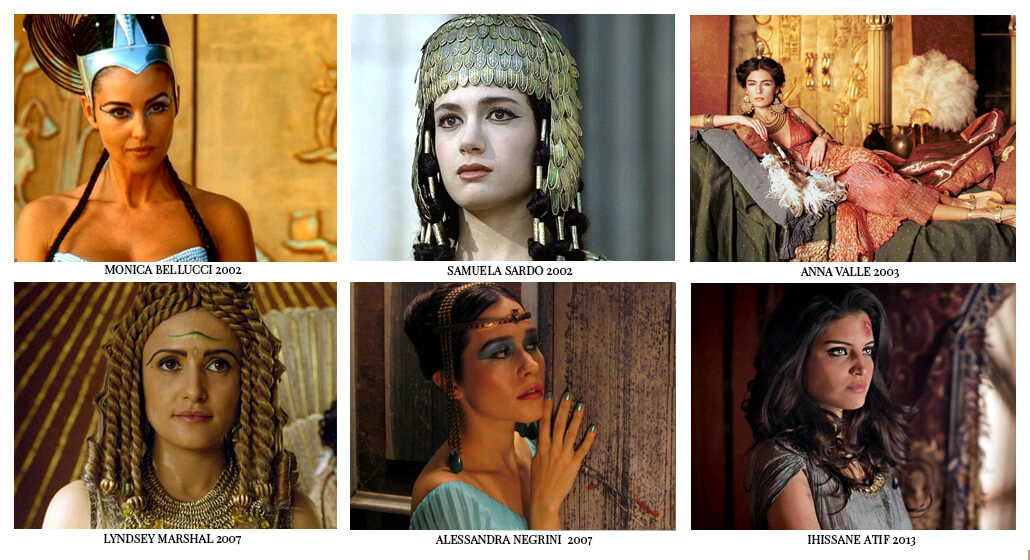 Modern day Cleopatras. Film depictions. Actresses who played the queen of the Nile.