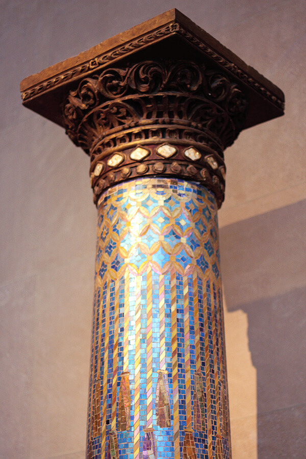 Beautiful column at the MET museum, New York