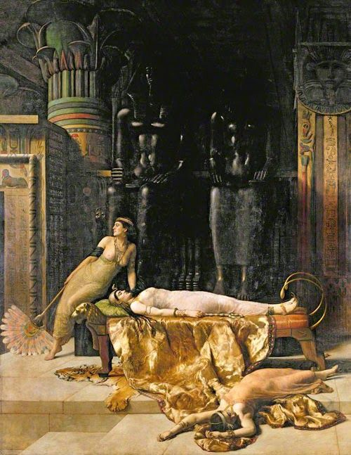 The Death of Cleopatra  , Painting by  John Maler