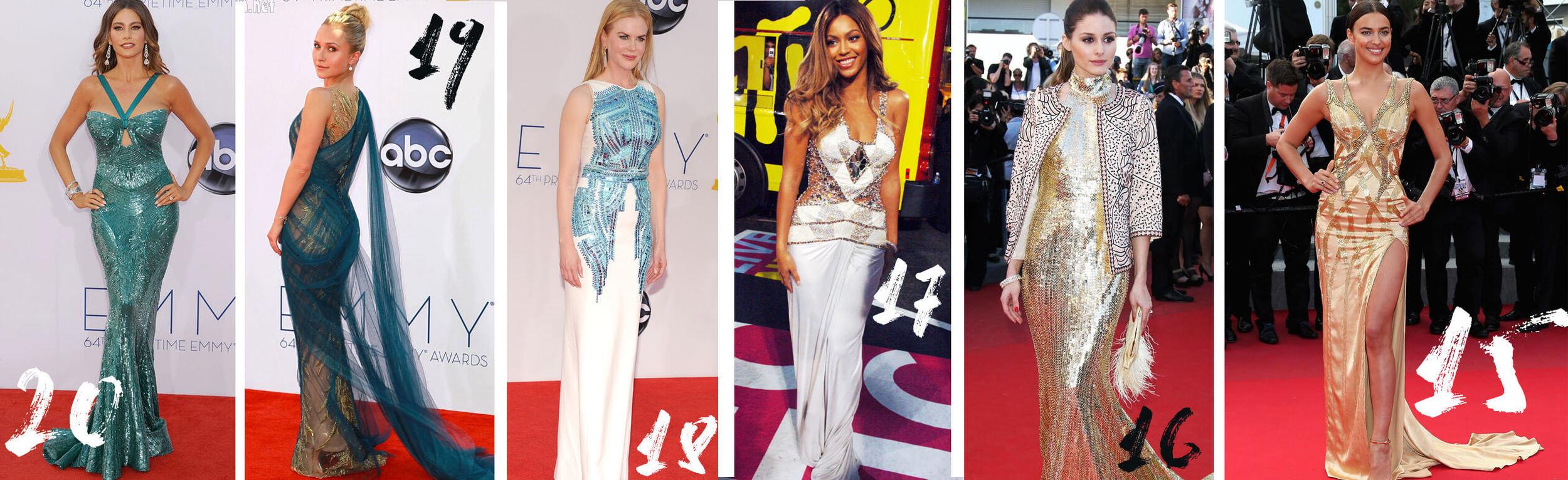20. Sofia Vergara 19. Hayden Panettiere 18. Nicole Kidman 17. Beyonce 16. Olivia Palermo 15. Irina Shayk