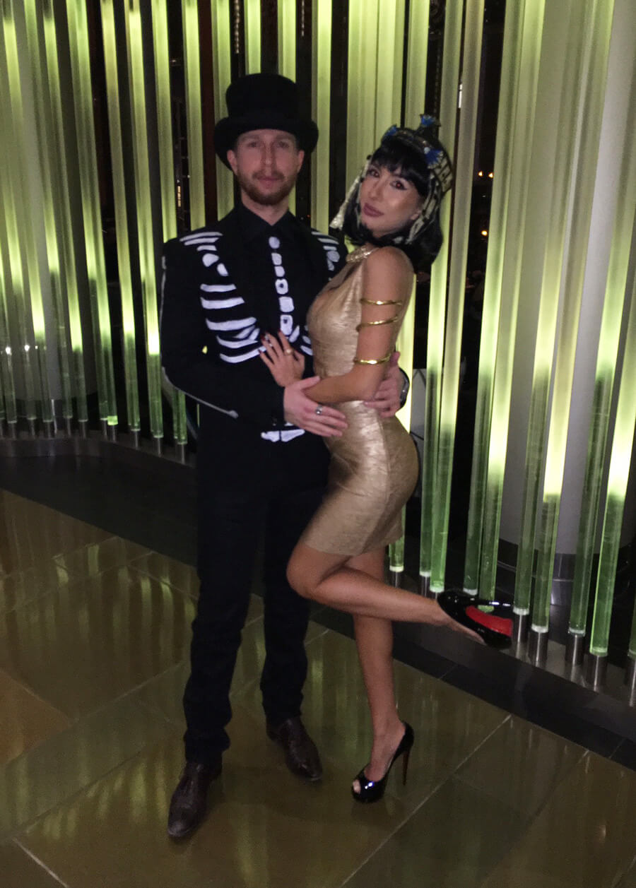 Bond from Spectre skeleton and Cleopatra. Halloween Inspiration