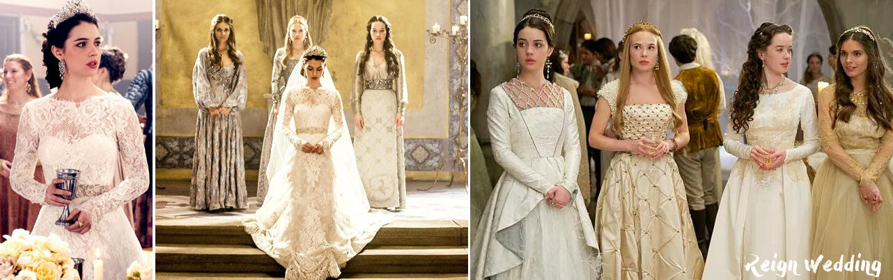 Reign Wedding Dresses. Mary Queen of Scots as a bride