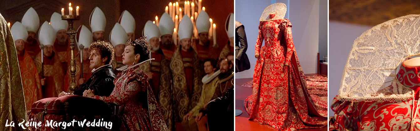 Red Wedding Dress at The Reign Margot movie