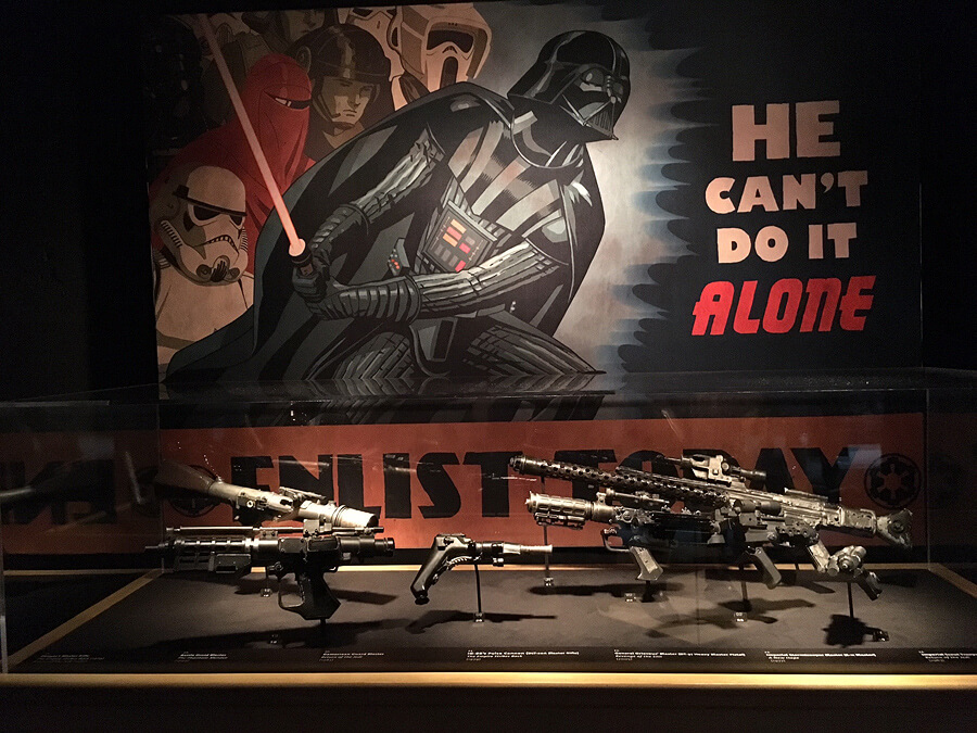 Star Wars and The Power of Costume Exhibition, Discovery Times Square in New York