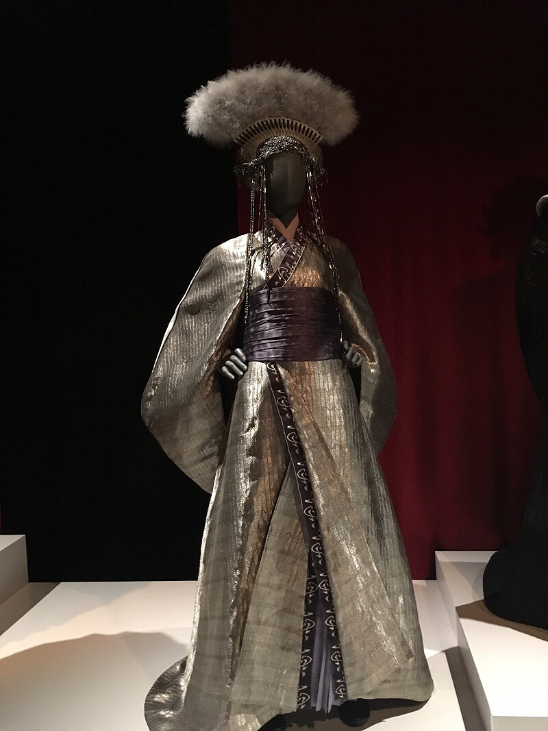 Queen Padme Amidala's gorgeous gown at  Star Wars and T  he P  ower of C  ostume E  xhibition, Discovery Times Square in New York. By Ulia Ali