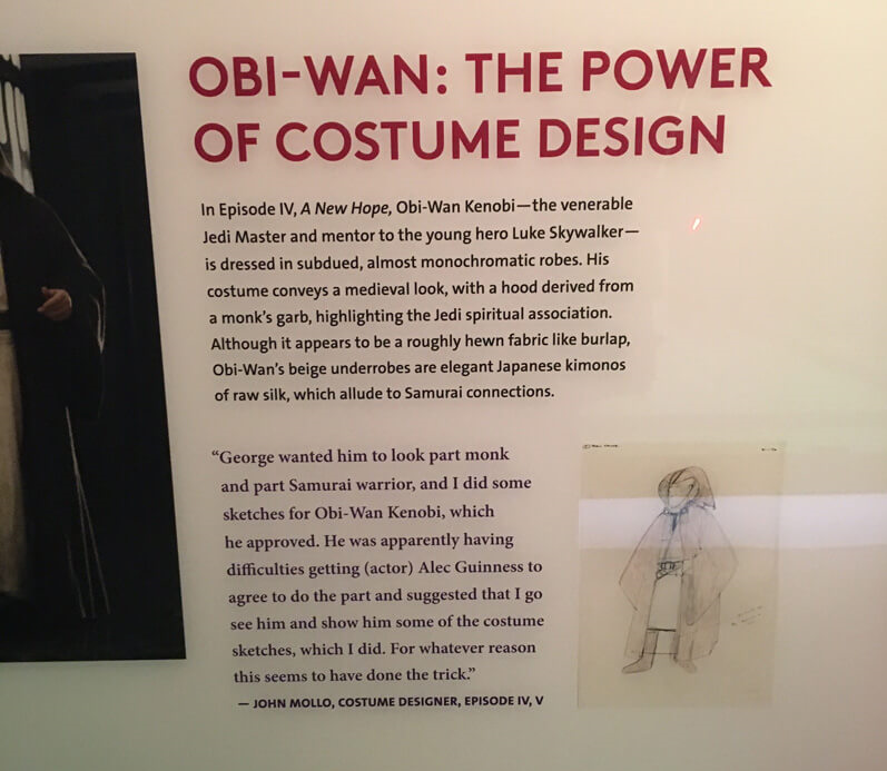 Star Wars and T  he P  ower of C  ostume E  xhibition, Discovery Times Square in New York. Obi Wan