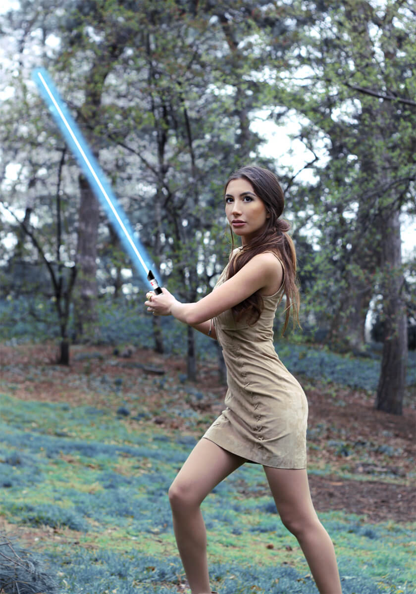 The Force is strong with me! New female Jedi has arrived :)