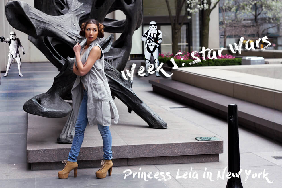 Star Wars themed photoshoot. Ulia Ali as Princess Leia.
