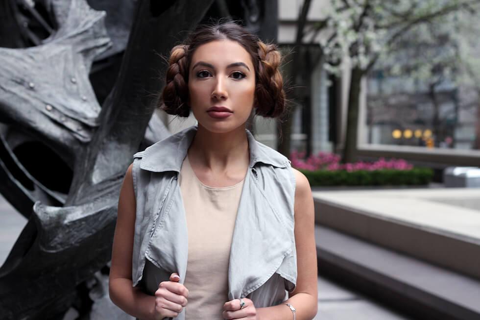 Princess Leia hairstyle as seen on NYC blogger Ulia Ali