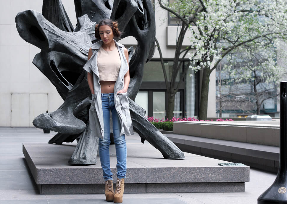 Star Wars inspired look in NYC by blogger