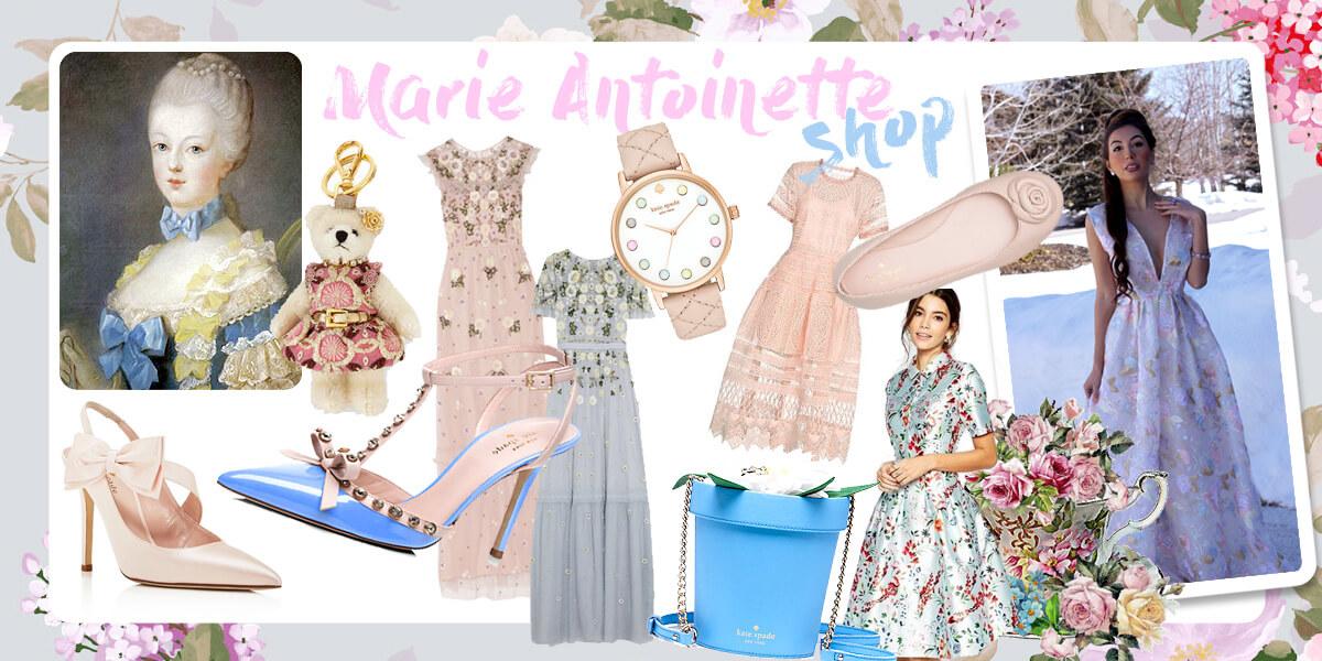 Marie Antoinette Themed shop. Online shopping