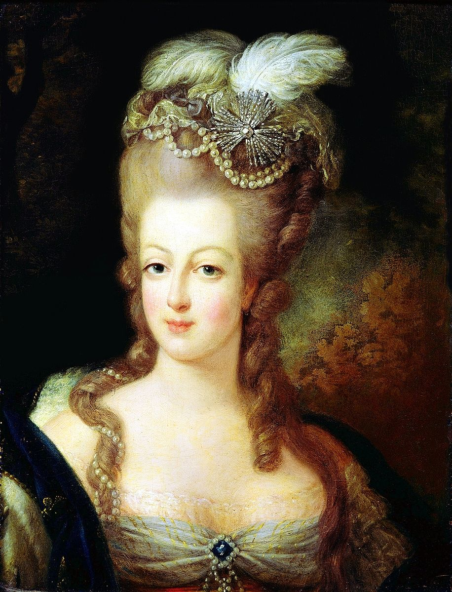 Portrait of the Queen Marie Antoinette by  Jean-Baptiste Gautier Dagoty