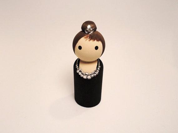 Audrey Hepburn wooden doll