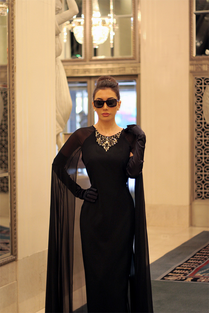 Ulia Ali. NYC blogger as Audrey Hepburn
