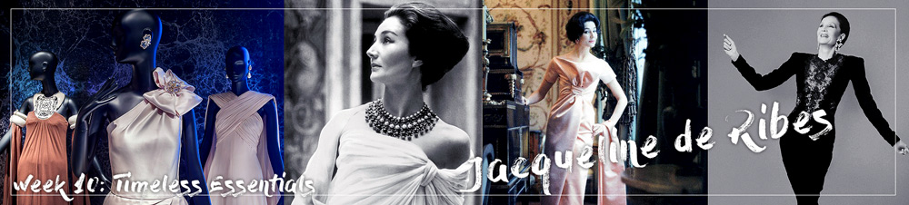 Jacqueline de Ribes costume exhibition in New York.
