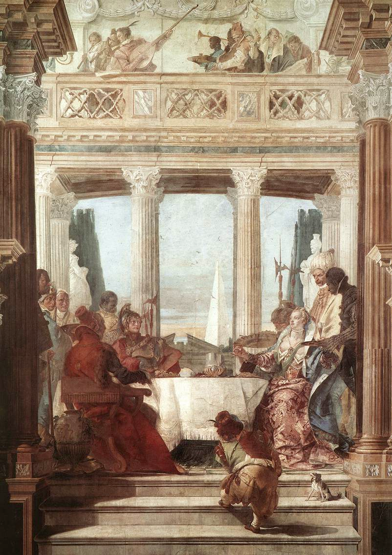 Tiepolo's fresco version for the ballroom in the Palazzo Labia, Venice.